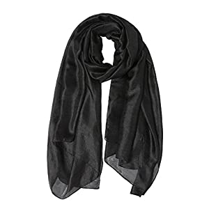Womens Long Scarf Solid Color Large Soft Shawl Wraps for Party Evening Everyday