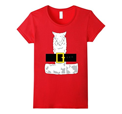 Womens SANTA CLAUS COSTUME Outfit Christmas Shirt | Xmas T-Shirt Medium (Miss Clause Outfit)