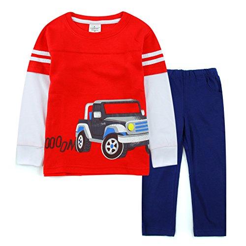 [Neighbor Girl Children Baby Business Car Boy sweatshirts Blue Pants 2pcs Set (1.5-6 years)] (Bowser Costume For Dog)