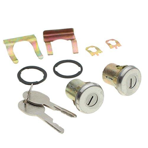 Homyl 2X Complete Door Lock Cylinder + 2 Keys Front Right & Left for Chevrolet