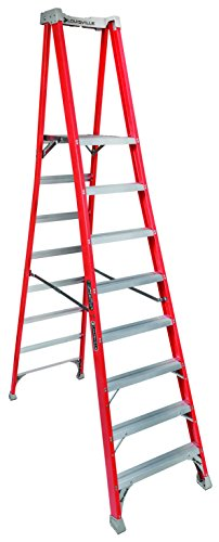 Louisville Ladder 8-Foot Fiberglass Pro Extended Rail Platform Ladder, 300-Pound Capacity, Type IA, FXP1708