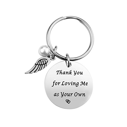 Step Father Dad Keychain Gifts Gift Idea For Fathers Day From Wife Daughter Son Kids Stainless Steel Jewelry Birthday Men Husband Christmas
