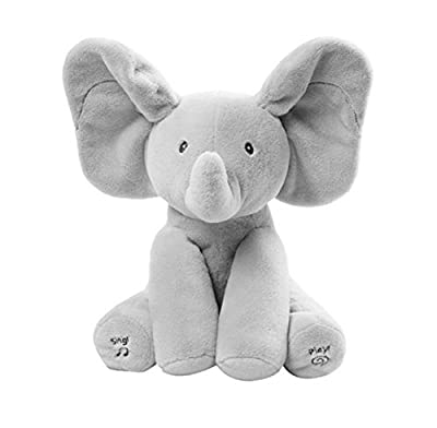Baby Elephant Peek A Boo Pal Animated Flappy The Elephant Plush Toy with Music