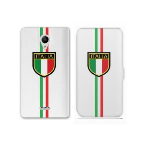 Amazon.com: RV Leather Flip Case Wiko U Feel Italie - Italie ...