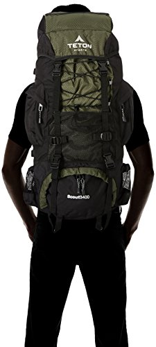 Teton Sports Scout 3400 Internal Frame Backpack; High-Performance Back... - 41foaF7KAfL