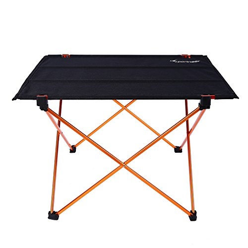 Sportneer Portable Camping Table, Lightweight Folding Roll Up Picnic Table