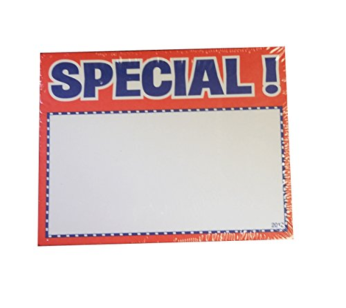 """3.5"""" X 2.75"""" SPECIAL Sign Card (100) for sale  Delivered anywhere in USA"""
