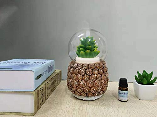 TOP Pineapple Design Resin Water Globe humidifier,Automatic Shut-Off Ultra-Quiet Operation Baby Nursery, Bedrooms Office