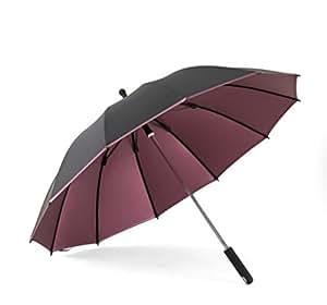 ZHDC® Paraguas largo, Paraguas a prueba de viento Mango largo Hombres Comercio Incremento Paraguas Azul Paraguas púrpura Manualmente Paraguas recto Paraguas largo 115x86cm Antideslizante Sombrilla sombrilla ( Color : Purple )
