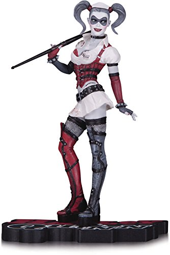 DC Collectibles Harley Quinn Arkham Asylum Statue, Red/White/Black