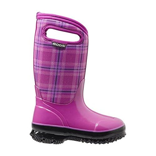 Price comparison product image Bogs Kids Classic Winter Plaid Waterproof Insulated Rain Boot (Toddler/Little Kid/Big Kid), Fuchsia, 6 M US Big Kid
