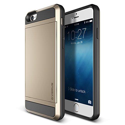 Verus Damda Slide Premium Hard Case mit Schutzfunktion und Schrammen inkl. extra Fach für Apple iPhone 6 gold