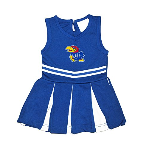 Baby Infant Cheerleader Dress (Kansas Jayhawks NCAA Newborn Infant Baby Cheerleader Bodysuit Dress (6 Months))