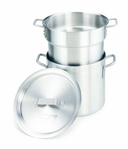 Quart Aluminum Double Boiler - Crestware 20-Quart Heavy Weight Aluminum Double Boiler with 17-1/2 Quarter Inset Capacity