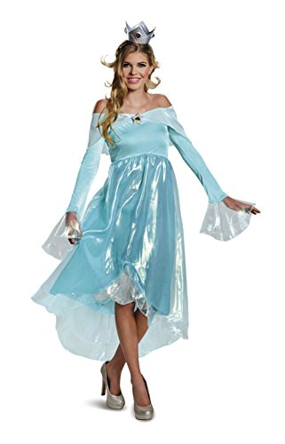 Disguise Women's Rosalina Deluxe Adult Costume, Blue Small -