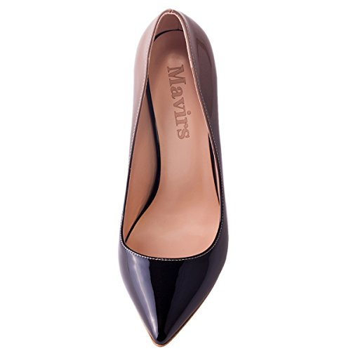 Stiletto Mavirs Plus Slip Size Gradient Patent on Toe Party Cymn Shoes for Pumps High Women's Pointy Dress Nudegrey Heels cF4WrFBpP1