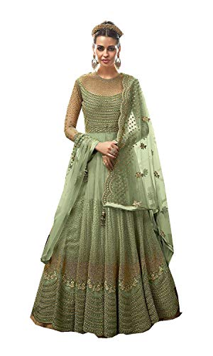 ziya Indian/Pakistani Collection Heavy Designer Anarkali Latest Salwar Kameez 15007 (Green, L-42)