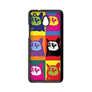HTC One Mini Case,Colorful Cute Grumpy Cat Pattern Combo High Definition Wonderful Design Cover With Hign Quality Hard Plastic Protection Case