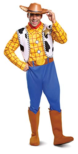 Character Couple Costumes (Disguise Men's Woody Deluxe Adult Costume,Multi,XL)
