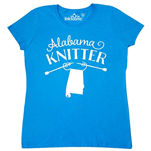 inktastic Alabama Knitter in White Women's T-Shirt Large Sapphire