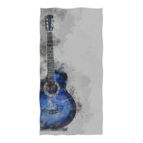 - Microfiber Beach Towel Electric Guitar Surrounded by Lightning Large Beach Blanket Towel Lightweight Towel for Travel Pool Swimming Bath Camping Yoga Gym Sports Women Adults Oversized 37 X 74 Inch