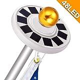 abbort 48LED Flagpole Solar Light for Flag Pole Topper Waterproof Auto On/Off Night