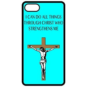 I Can Do All Things Through Christ Who Strengthens Me - Religious - Religion Black Iphone 4 - Iphone 4s Cell Phone Case - Cover 3