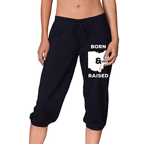 Ohio Born and Raised State Women's Capri Pant, Casual Pants ()