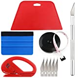 Tools & Hardware : Wallpaper Smoothing Tool Kit Include black tape measure,red squeegee,medium-hardness squeegee,snitty vinyl cutter and craft knife with 5 Replacement blades for Adhesive Paper Application Window