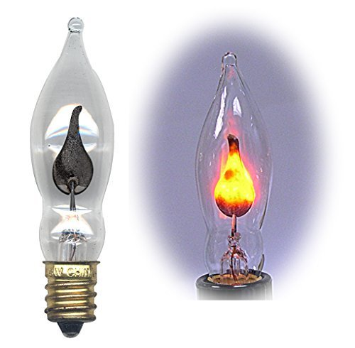Flicker Flame Light Bulb Dances with a Flickering Orange Glow -