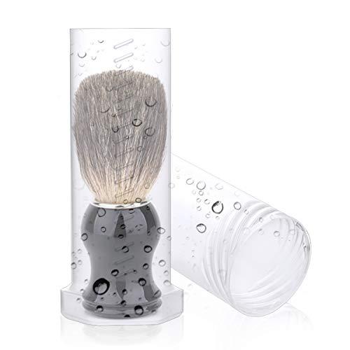 Shaving brush travel case, 1-pack Shaving Brush Travel Case Shaving Brush Holder shaving stand for Travel with Adjustable Height& Lengthen& Ventilation Holes -Shaving brush not Included