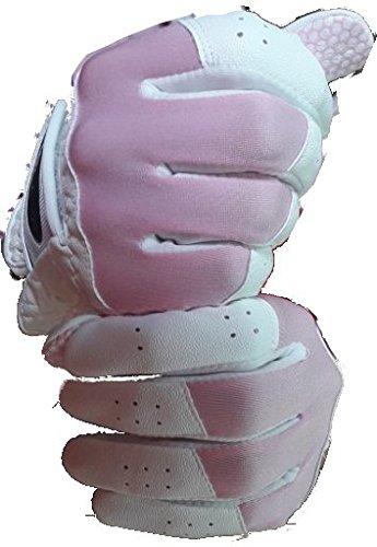 プレミアムの両方手のペアレディースグローブ手袋Made with Sheep Skinレザー Large  B07799S65P