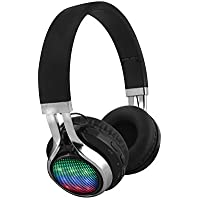 FX-Victoria Foldable Over-Ear Headsets Wireless Earphone with LED Flash Light, Hands Free Calling, Supports FM Stereo Function / MicroSD / TF Card, Black