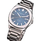 45mm parnis Blue dial Steel Strap Watch MIYOTA Sapphire Crystal Mechanical Watch