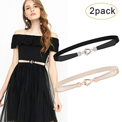 Dress Belts For Women Waist Belt For Dress Thin Belt Skinny Belts For Women Stretch Cinch Belt