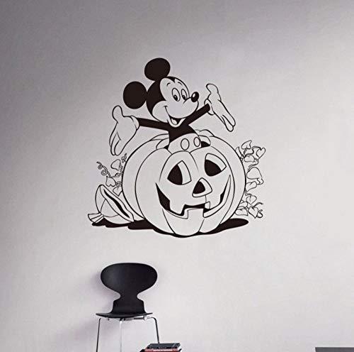 qzheng DIY Bedroom Cute Halloween Wall Stickers Children's Room Home Decoration Vinyl Detachable Wall Stickers 58 X58Cm ()