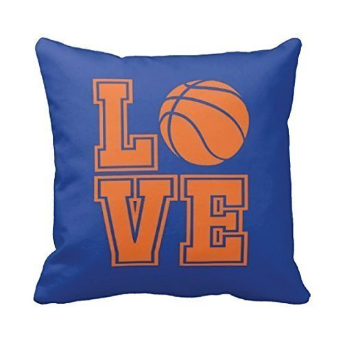 Basketball Throw Pillow Cover, Boys, Girls, Custom, LOVE, Ball, Black and White or ANY COLORS, 16x16