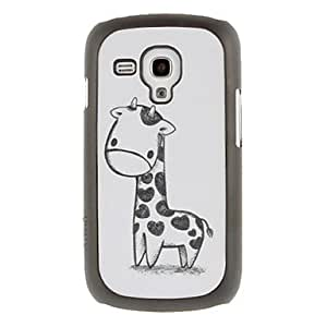 Buy Black and White Deerlet Drawing Pattern Protective Hard Back Cover Case for Samsung Galaxy S3 Mini I8190
