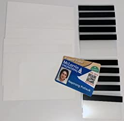 10 Teslin ID Card Kit - 1-Up Inkjet Teslin Sheets & Butterfly Pouches WITH 1/2\