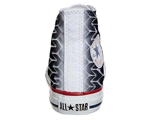 CONVERSE personalizzate All Star Sneaker unisex (Prodotto Artigianale) Pirelly