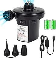 Brekmis Air Pump Portable Quick-Fill Electric Pump 110V AC&12V DC / Rechargeable Air Pump with 2000mAh Bat