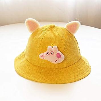 07a13a05110c7 ChildHat Sombrero Amarillo pequeño Fresco Orejas Sombrero del Padre e Hijo  Niños de Pana Bricolaje