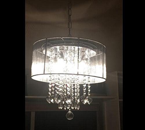 Cheap Modern Crystal Pendant Chandelier with Shade Ceiling Light Fixture for Living Dining Room Bedroom of CRYSTOP
