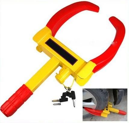 Autofurnish Universal Yellow Anti Theft Car Wheel Tyre Lock Clamp – Nypd Style …