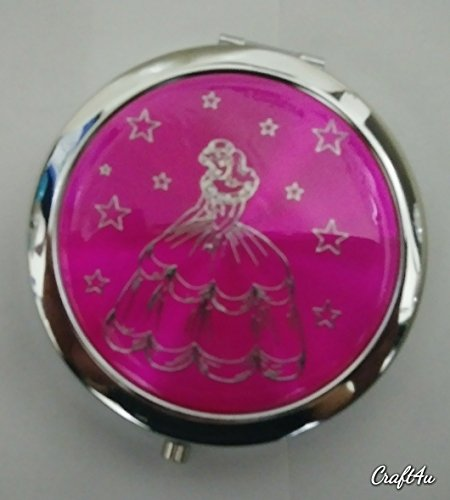(12pcs Quinceanera Favor Sweet 16 Party favors Recuerdos de Quinceanera Double Side Compact Mirror Pink)
