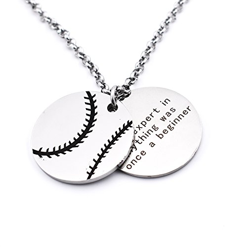 N.egret Personalized Baseball Necklaces Chain Pendants Sport Jewelry Inspirational Quote Baseball Gift -
