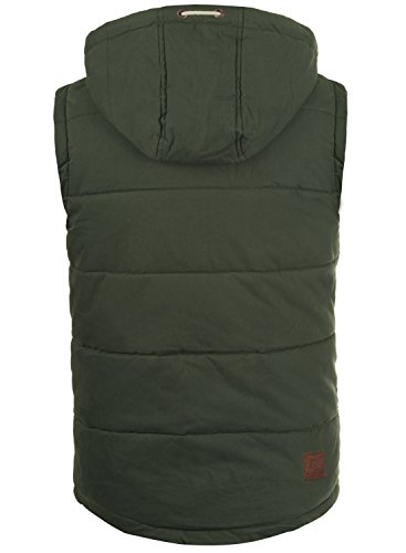 Green Giubotto Gilet Con Ivy Cappuccio solid Dry Piumino E0gwxUnZq