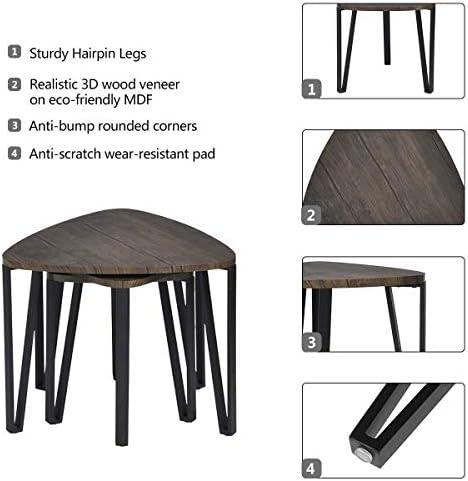 home, kitchen, furniture, living room furniture, tables,  living room table sets 5 on sale Industrial Nesting-Tables Living Room Coffee Table Sets in USA