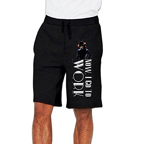 Biotio Men's 2016 Agent Carter Peggy Carter Logo Performance/Sports/Athletic Shorts Sweatpants (Peggy Carter Captain America 2)