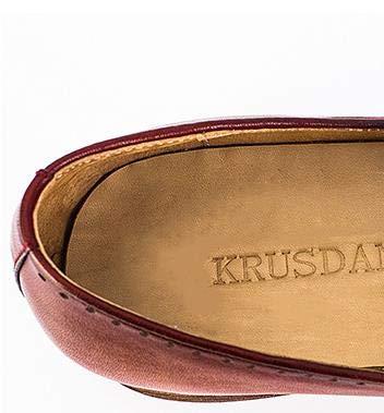 Marca Bullock Oxford Color Hechos Size Ruiyue 42 Brown Hombres Mocasines Zapatos Genuino Zapatos para Cuero de EU Brown a Bordados tallados Mocasines Mano qqXSwvz
